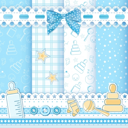 Set baby patterns  Vector illustration  Stock Vector - 18253903