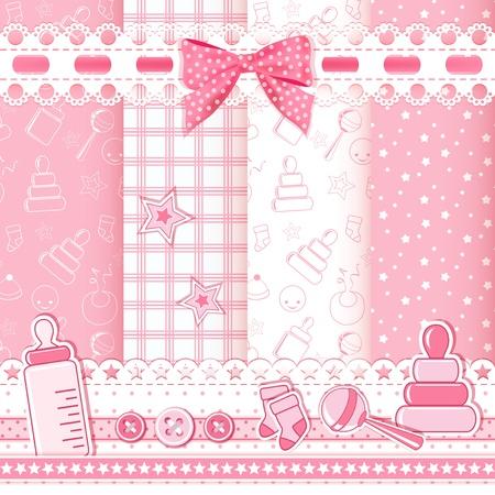 設定の赤ちゃんパターン ベクトル イラスト  イラスト・ベクター素材