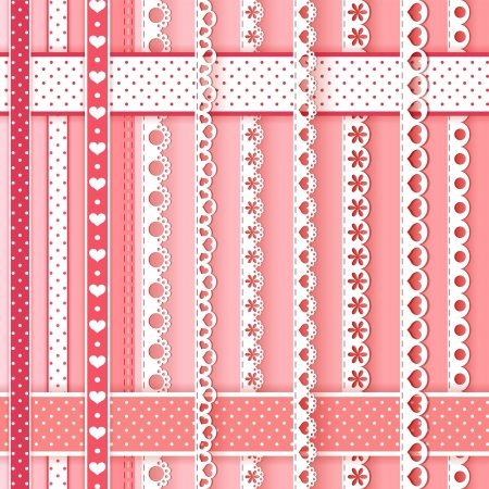 cute background: Collection design elements for scrapbook  Vector illustration