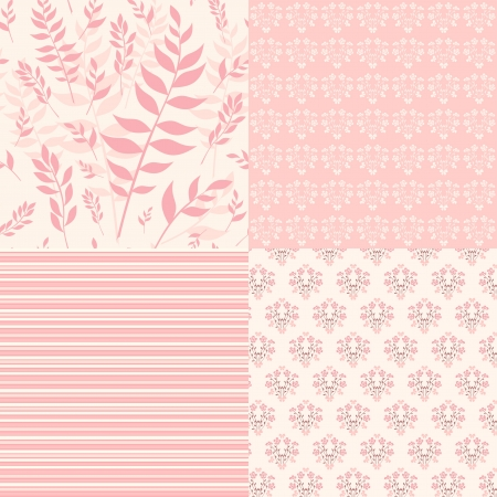 Set floral patterns for scrapbook  Vector  Vector