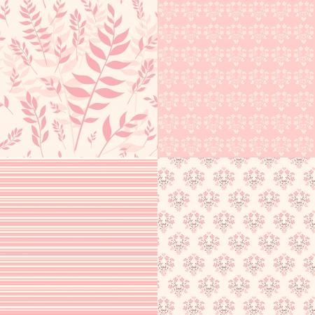 Establecer patrones florales para el libro de recuerdos del vector