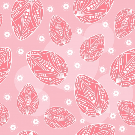 Easter seamless Pink   Vector illustration  Vector