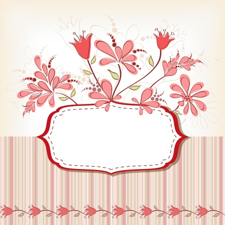 Frame with flowers  Vector illustration  Vector