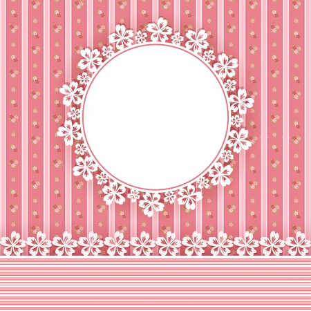 Floral background with frame  Vector illustration  Vector