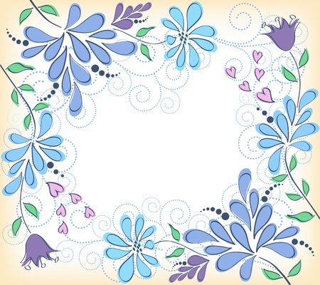 lace edges: Greeting card with flowers  Vector