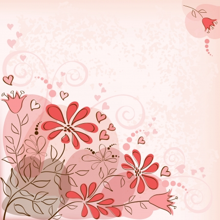 Greeting card with flowers  Vector  Vector