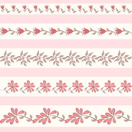 cute border: Collezione confini floreale Vector illustration