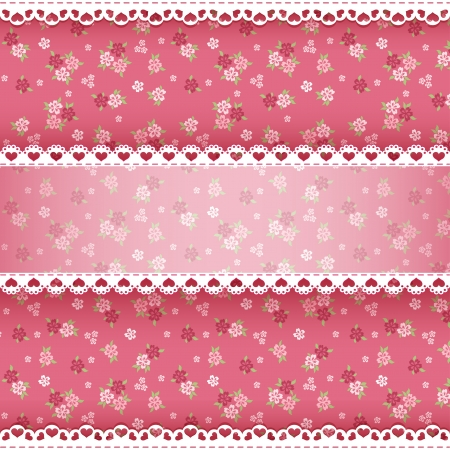 Floral background for scrapbook  Vector illustration