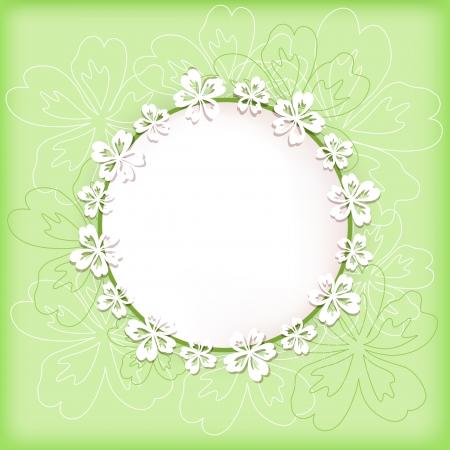 Bloemen achtergrond met frame Vector illustratie