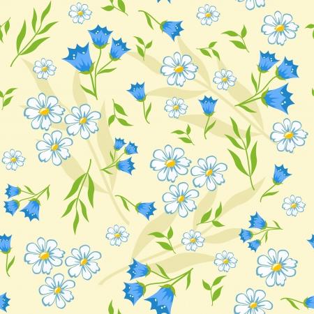 Floral background for scrapbook  Vector  Vector