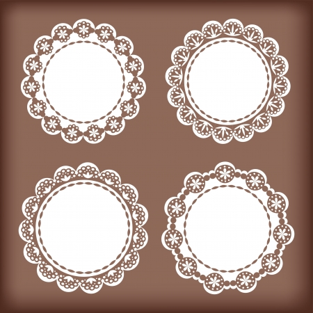 lace vector: Collection lace frames  Vector illustration