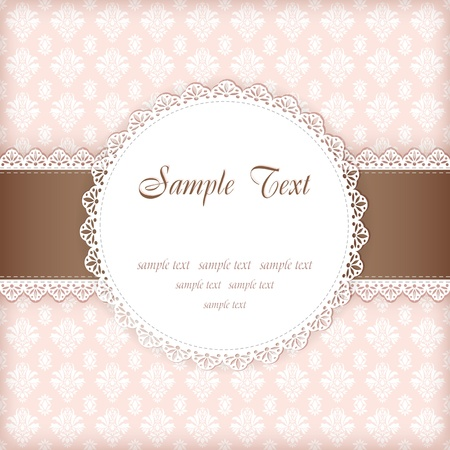 clip: Greeting card with place for your text  Vector  Illustration