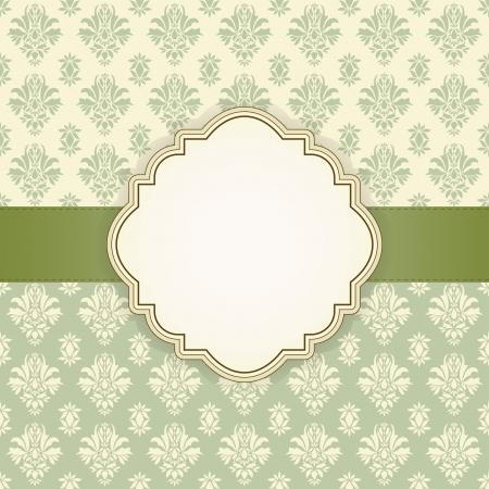 あなたのテキストのベクトル図のための場所でのグリーティング カード  イラスト・ベクター素材