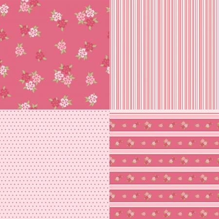Set floral patterns for scrapbook  Vector