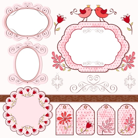 Set for scrapbook  Vector illustration  Vector