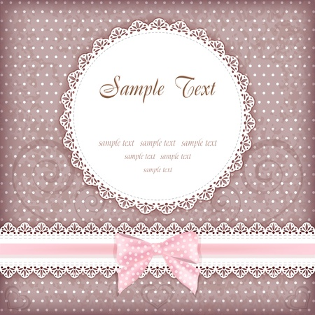 doilies: Greeting card with place for your text  Vector  Illustration