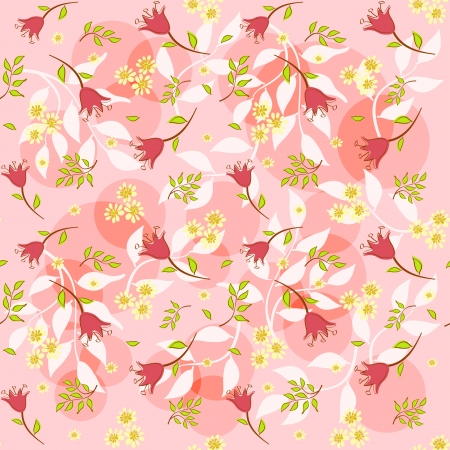 Floral background for scrapbook  Vector illustration  Vector