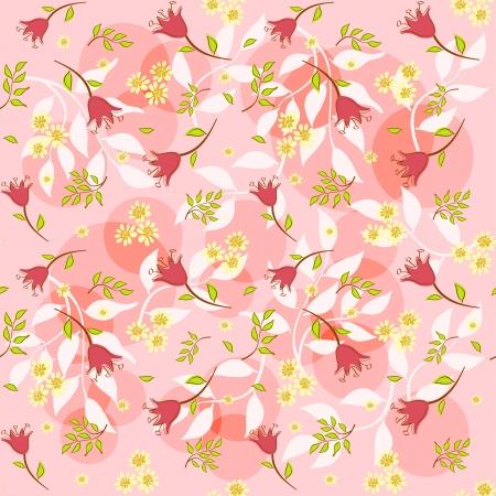 Floral background for scrapbook  Vector illustration  Vector