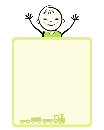Happy boy  Vector illustration with place for your text  Vector