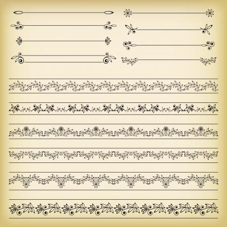 embellishments:  Set of borders  Vector illustration  Illustration