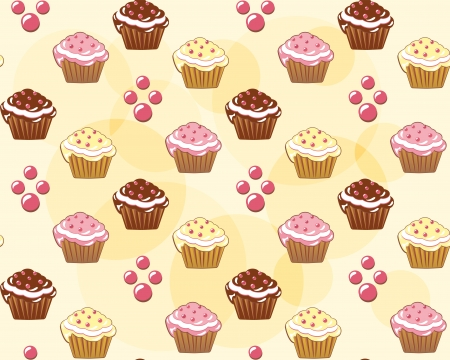 Seamless with cake  Vector illustration  Vector