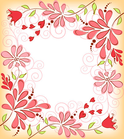 embroidery designs: Greeting card with flowers  Vector