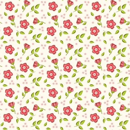 Pink floral background  Vector illustration  Vector