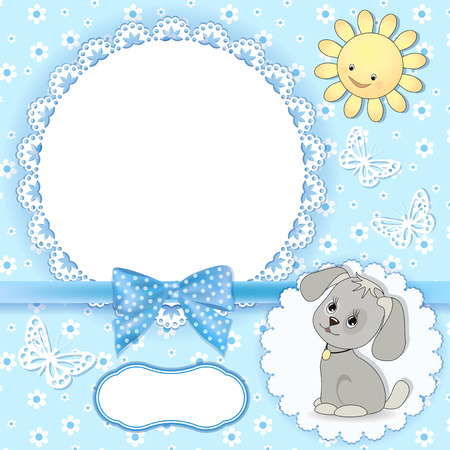 Baby background Vector illustration avec cadre