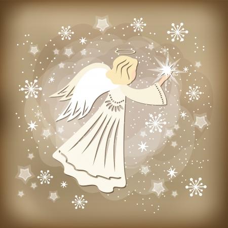 天使のベクトル図  イラスト・ベクター素材