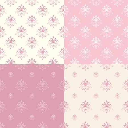 Set floral ornamental patterns  Vector illustration  Vector