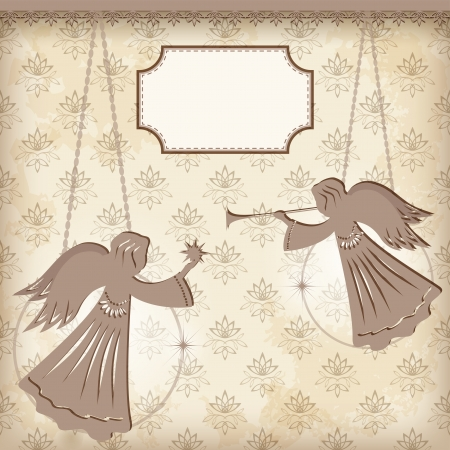 Christmas decoration  Angels  Vector illustration  Vector