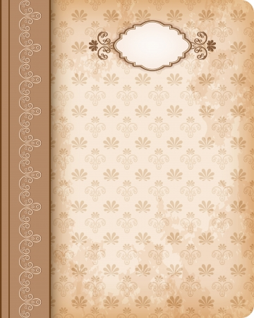 Old-fashioned cover book. Vector.