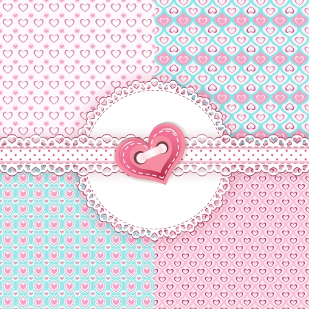 Collection pastel patterns  Vector illustration  Vector