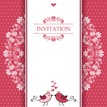 Greeting card with place for your text  Vector  Illustration