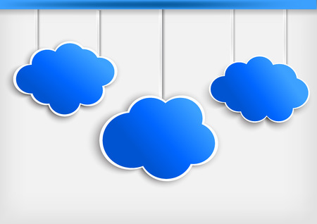 dangle: Background with paper cloud  Vector