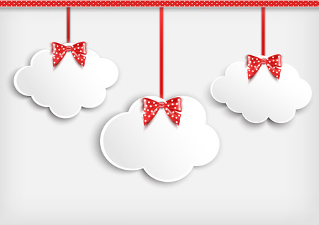 dangle: Sfondo con la nube di carta Vector Vettoriali