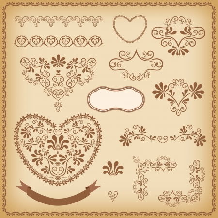 Collection design elements  Vector illustration  Vector