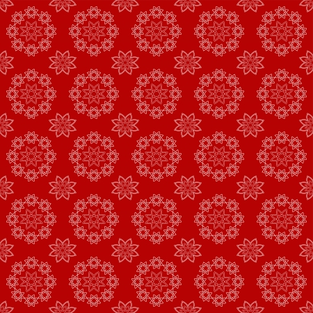 decoratively: Red floral seamless  Vector illustration