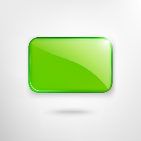 Green glass plate  Vector  Vector