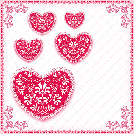 Valentine s background with heart   Vector illustration