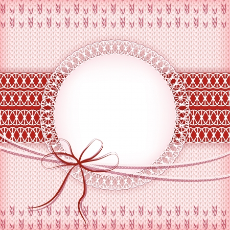 Knitting pink background  Vector  Vector