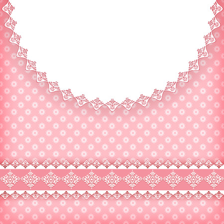 Greeting card with doily. Vector. Vector