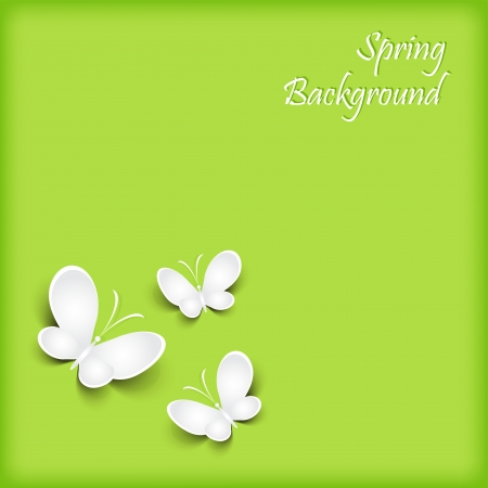 Background with paper butterfly  Vector  Vector