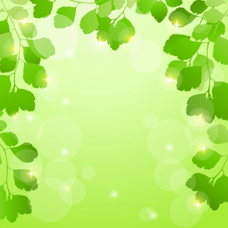 Abstract spring background with leaves  EPS10  Vector illustration