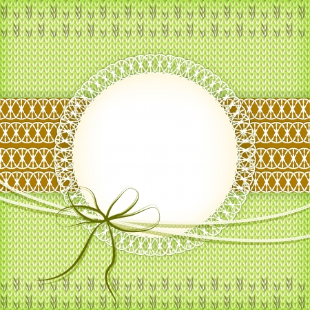 Knitting green background  Vector  Vector