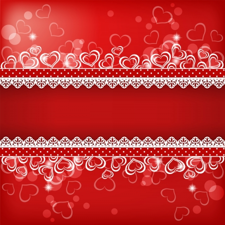 valentine's: Valentine s background with heart   Vector illustration