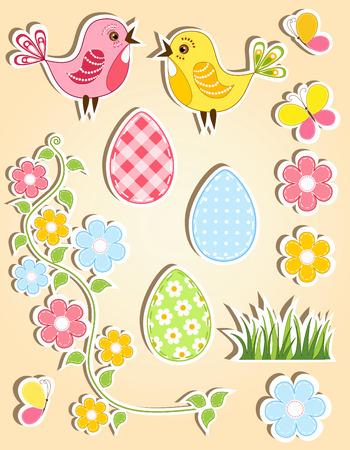 gaily: Easter design element. Vector illustration. Illustration