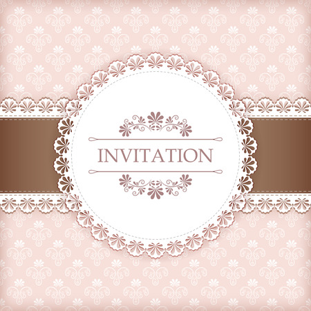 Greeting card with place for your text  Vector  Çizim