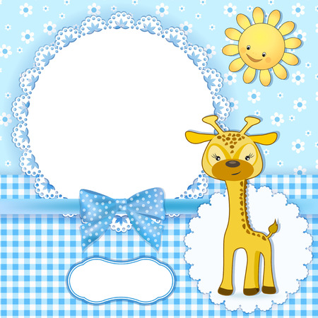 baby diaper: Baby background with frame  Vector illustration