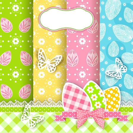 Vivid Easter backgrounds for scrapbook   Vector   Vector